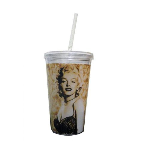 Marilyn Monroe Cream Travel Cup