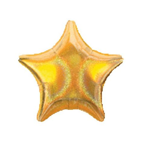 Gold Holographic Dazzler Star Balloon