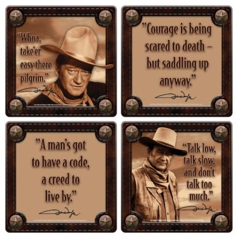 John Wayne 4 pc. Wood Coaster Set