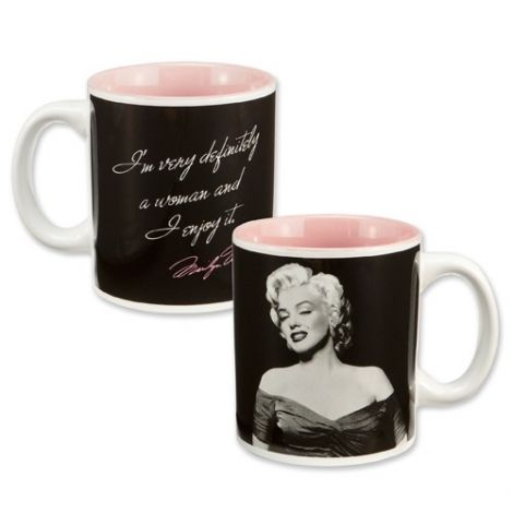 "Marilyn Monroe ""Definitely a Woman"" 12 oz. Ceramic Mug"