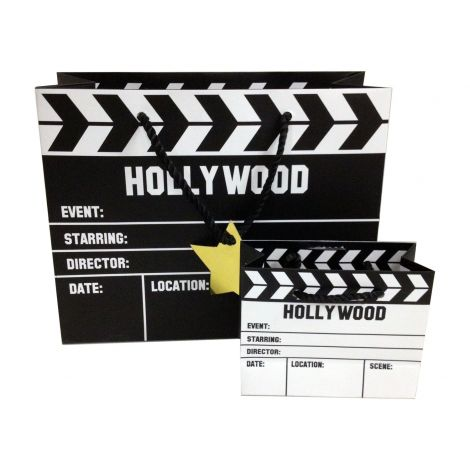 Set of two Hollywood Clapboard Paper bags