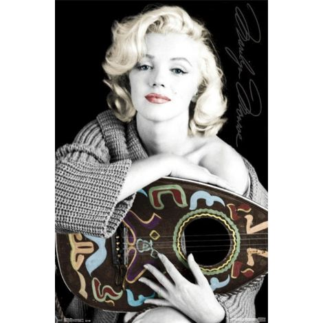 Marilyn Monroe with Guitar