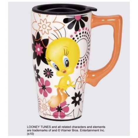 Looney Tunes Tweety Bird with Flower Travel Mug