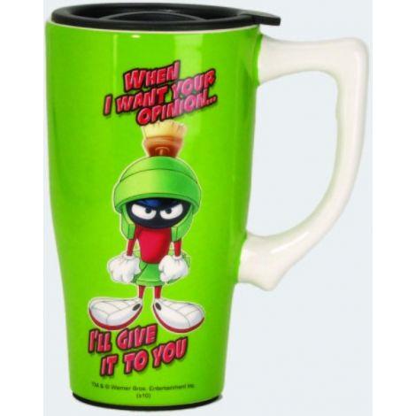 Looney Tunes Green Marvin Travel Mug