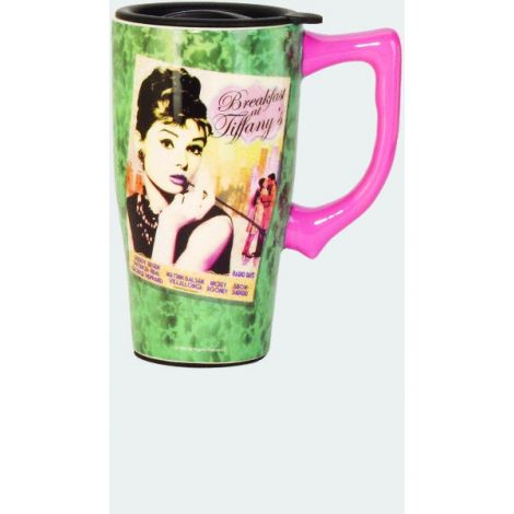 Audrey Hepburn Breakfast at Tiffany Travel Mug