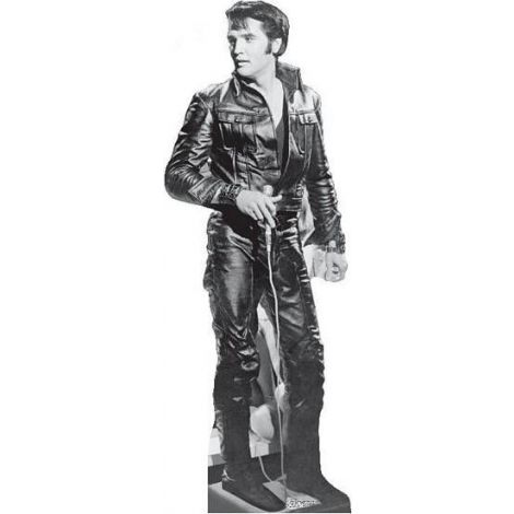 Elvis Presley Black Leather Lifesize cardboard cutout