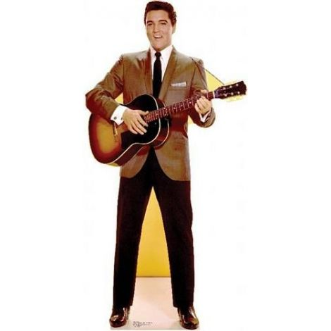 Elvis Sportscoat Guitar, Lifesize cardboard cutout #839