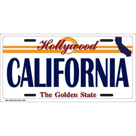 California with Map icon License Plate