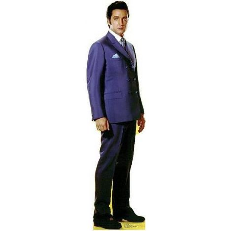 Elvis Blue Jacket Lifesize cardboard cutout #842