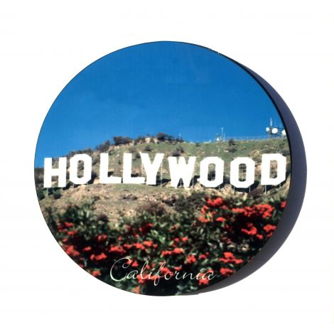 Circle Hollywood Sign Magnet