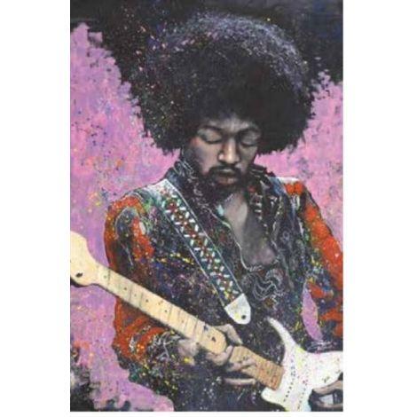 Hendrix Guitar Poster