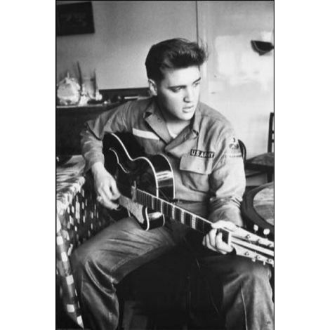 Elvis Playing Guitar Poster