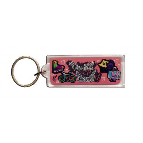 Pink Venice Beach Key chain
