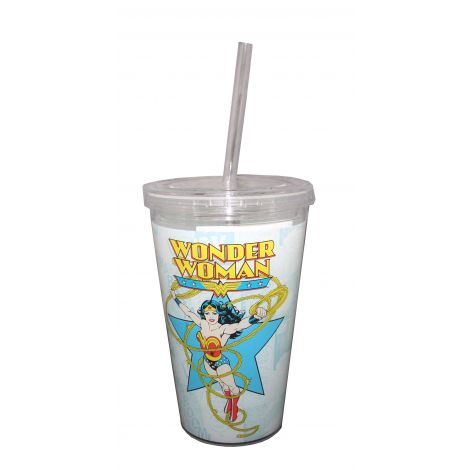 Wonder Woman travel cup.