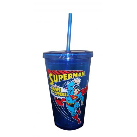 Blue Superman travel cup