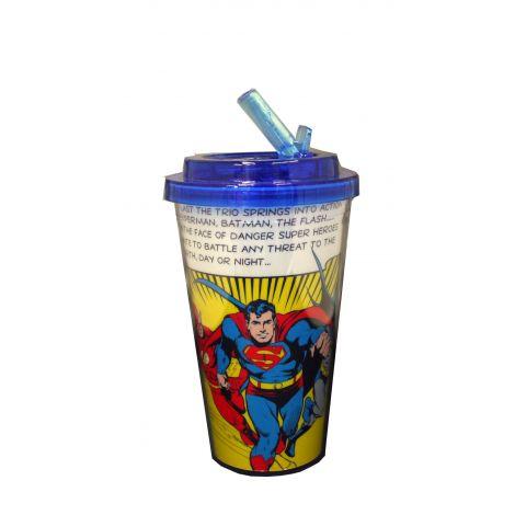 Flash, Superman and Batman travel cup