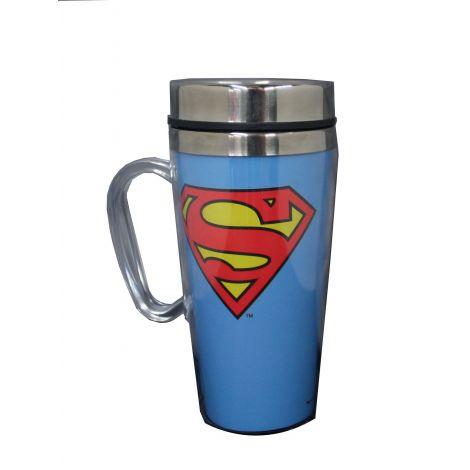 Superman logo travel mug