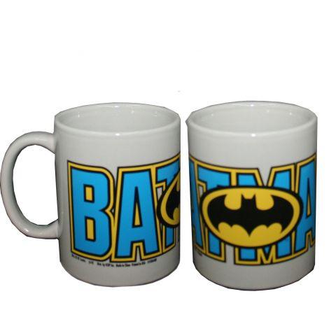 Batman Logo with Blue Batman wording Coffee Mug