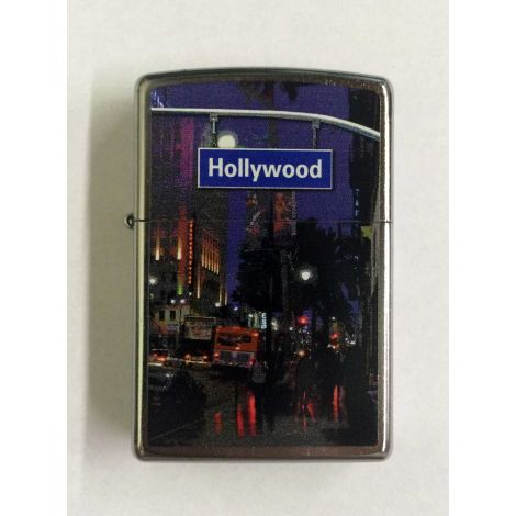 Hollywood Street Sign Zippo Lighter
