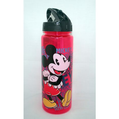 Mickey Mouse water bottle with retractable straw