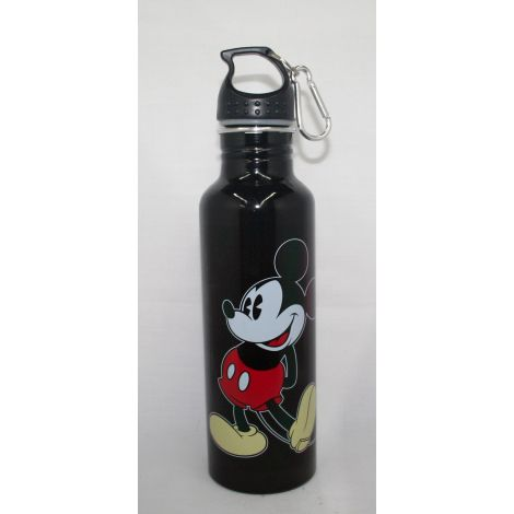 Mickey Mouse Black Aluminum Water Bottle