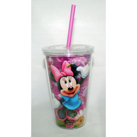 Minnie Mouse 18 oz. Clear Acrylic Travel Cup