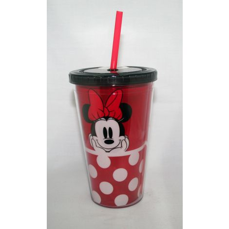 Minnie Mouse 18 oz. Red Acrylic Travel Cup