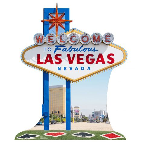 Vegas Sign Cardboard Cutout #1841