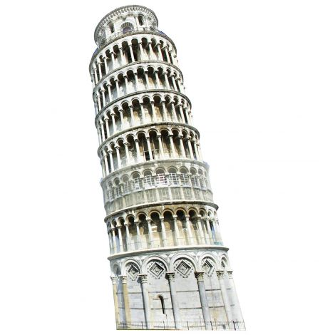 Italy Leaning Tower of Pisa Cardboard Cutout *1856