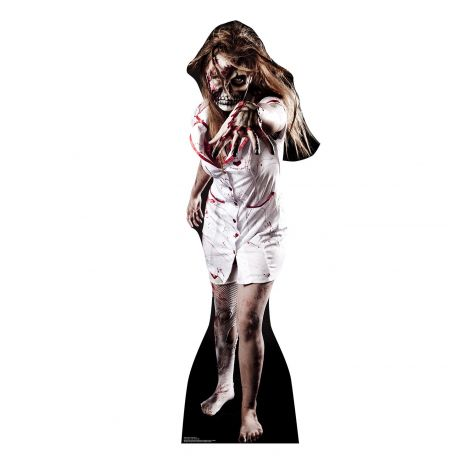 Skeleton Zombie Nurse Cardboard Cutout #1938