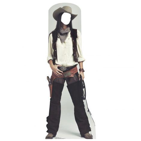 Wild West Cowgirl Standin Cardboard Cutout #1980