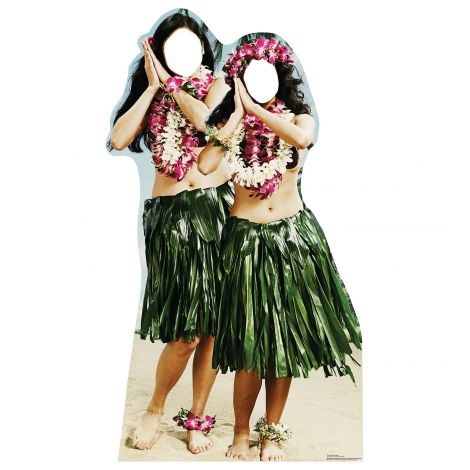 Hawaiian Hula Girls Standin Cardboard Cutout #1991