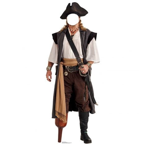 Pirate Peg Leg Standin Cardboard Cutout #1992