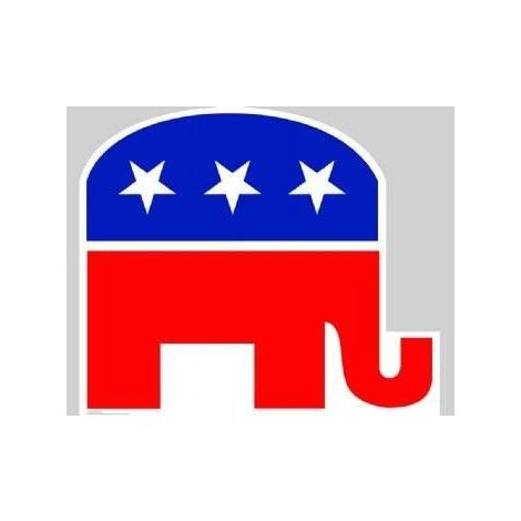 Rubublican Elephant, Lifesize cardboard cutout #920