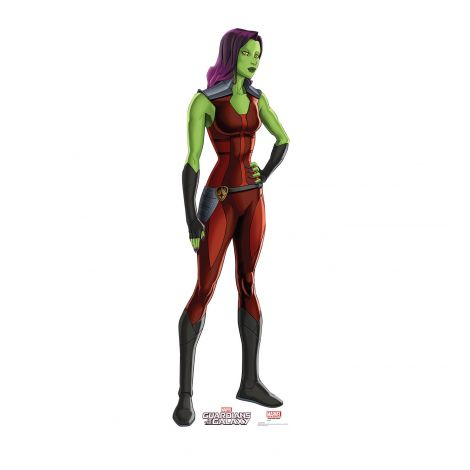 Gamora Cardboard Cutout from the animated Guardians of the Galaxy Series #2059