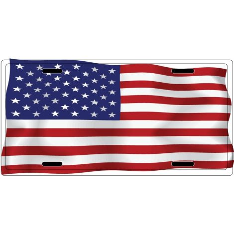 USA Flag License Plate