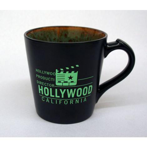 Hollywood Black and Green clapboard coffee Mug
