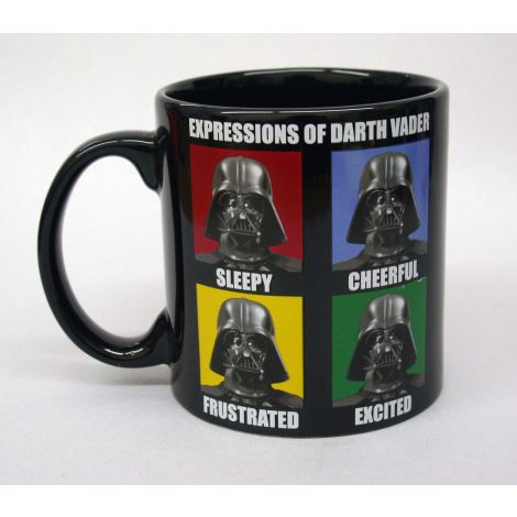 Expressions of Darth Vador coffe mug