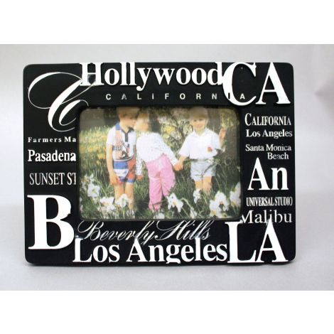 Black California famous places picture frame