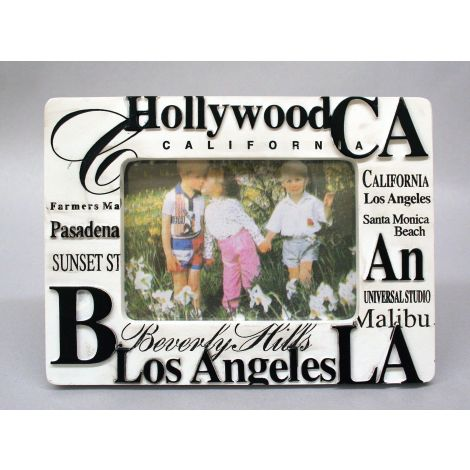 White California Famous Places Picture Frame