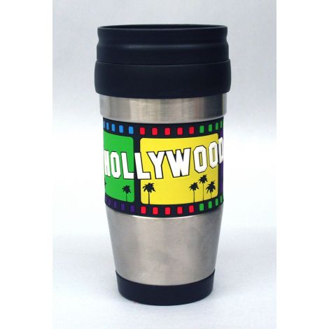 Stainless Steel Tumbler with Filmstrip Design