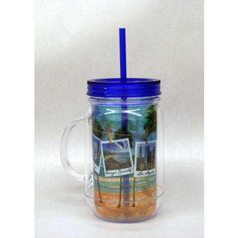 California Beach Mason Jar