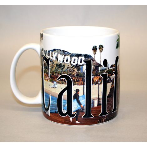 California Embossed Coffee Mug