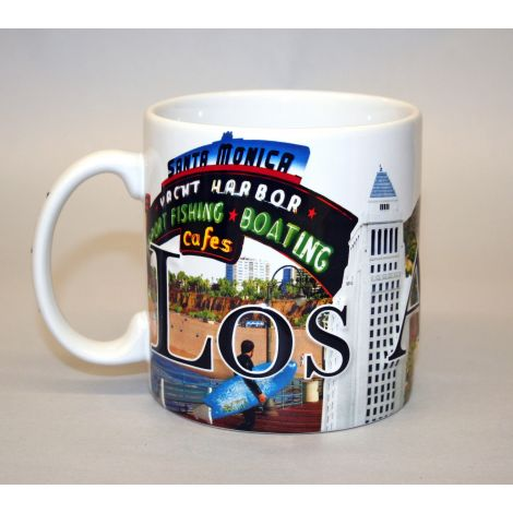Los Angeles Embossed Coffee Mug