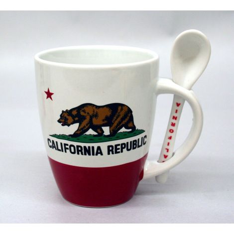 California State Flag Mug with Spoon