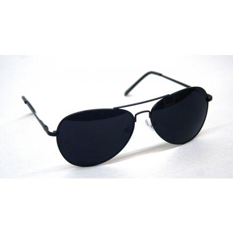 Black Frame Aviator Style Sunglasses