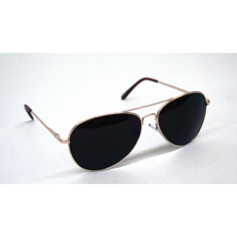 Gold Frame Aviator Style Sunglasses