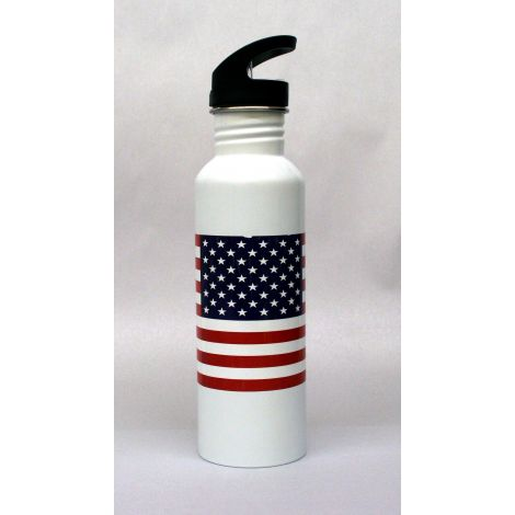 U.S Flag Stainless Steel Water Bottle