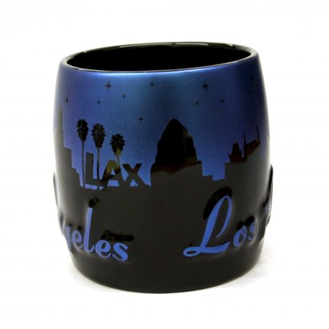 Embossed Los Angeles ceramic shotglass