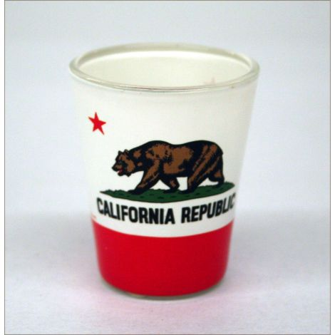 California State Flag Shotglass